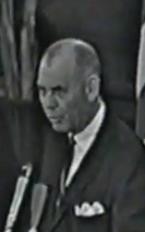 Dr. William H Dickinson Jr. offering a prayer and dismissal from the Trade Mart Luncheon following the shooting of President Kennedy